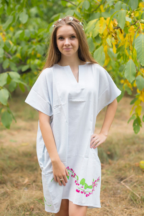"""Sunshine"" Tunic Dress kaftan in Climbing Vines pattern"