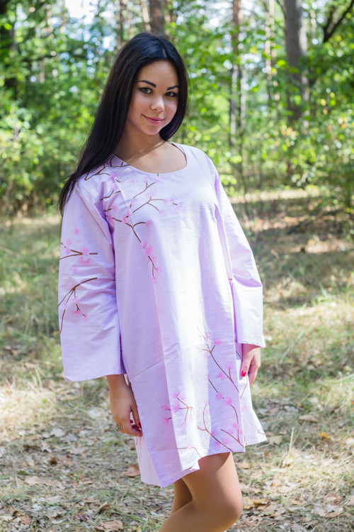 """Bella Tunic"" kaftan dress in Cherry Blossoms pattern"