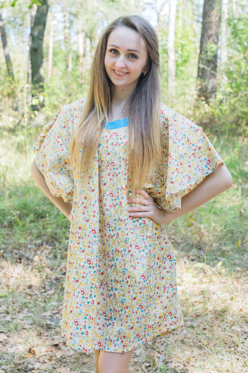 """Summer Celebration"" Tunic Dress kaftan in Petit Florals pattern"