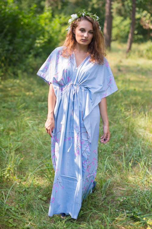 """Timeless"" kaftan in Cherry Blossoms pattern"