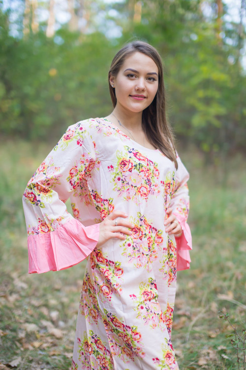 """Frill lovers"" kaftan in Floral Posy  pattern"