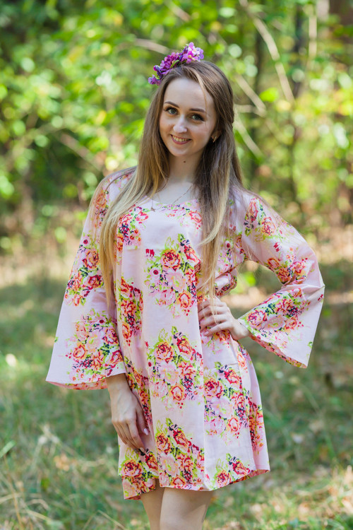 """Bella Tunic"" kaftan dress in Floral Posy pattern"