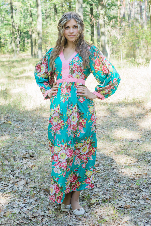 """""""My Peasant Dress"""" in Rosy Red Posy pattern"""