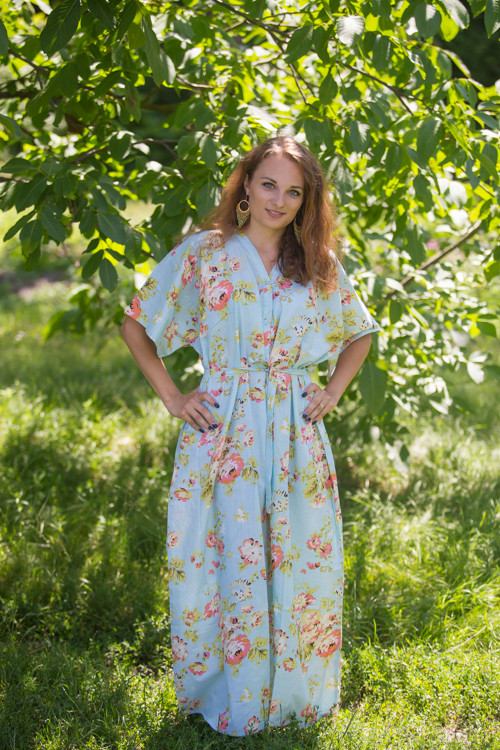 """Best of both the worlds"" kaftan in Flower Rain pattern"