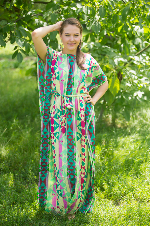"""Divinely Simple"" kaftan in Diamond Aztec pattern"