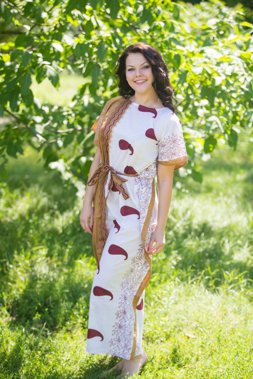 """""""Divinely Simple"""" kaftan in Perfectly Paisley pattern"""