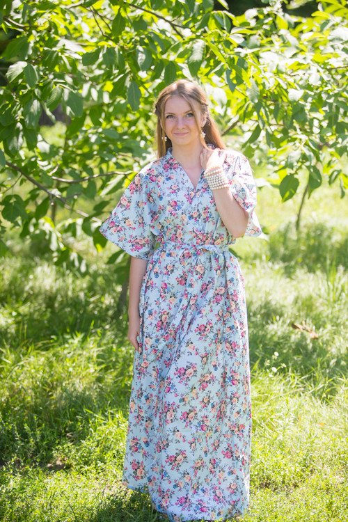 """Best of both the worlds"" kaftan in Vintage Chic Floral pattern"
