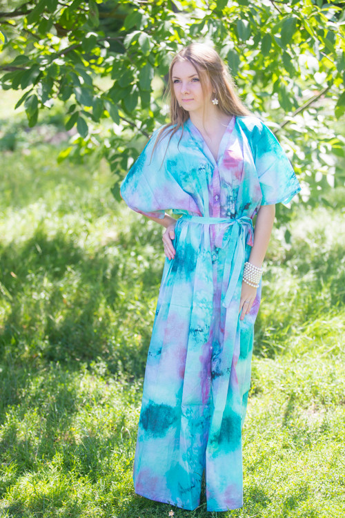 """Best of both the worlds"" kaftan in Watercolor Splash pattern"