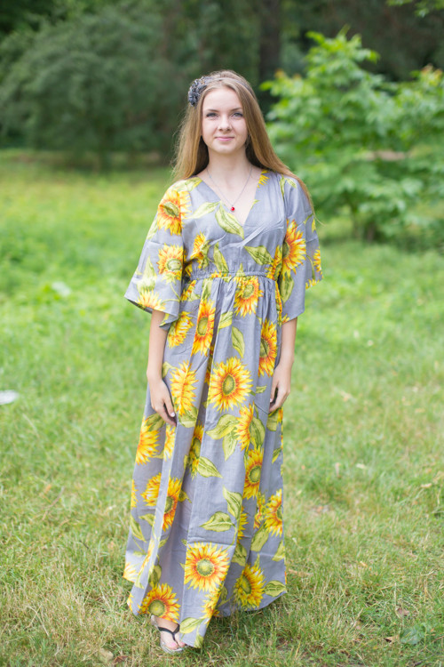 """I wanna Fly"" kaftan in Sunflower Sweet pattern"