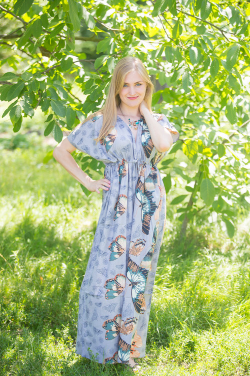 """Beach Days"" kaftan in Butterfly Baby pattern"