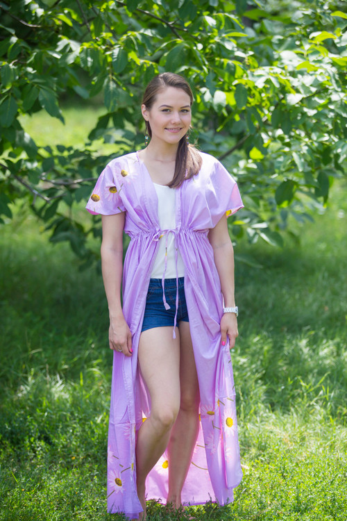 """Beach Days"" kaftan in Falling Daisies pattern"