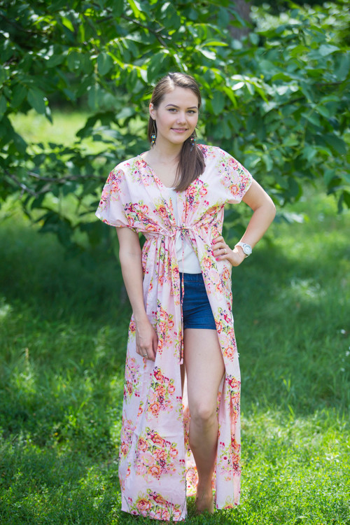 """Beach Days"" kaftan in Floral Posy pattern"