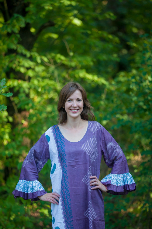 """""""Frill lovers"""" kaftan in Perfectly Paisley pattern"""