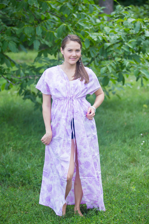 """Beach Days"" kaftan in Ombre Fading Leaves pattern"