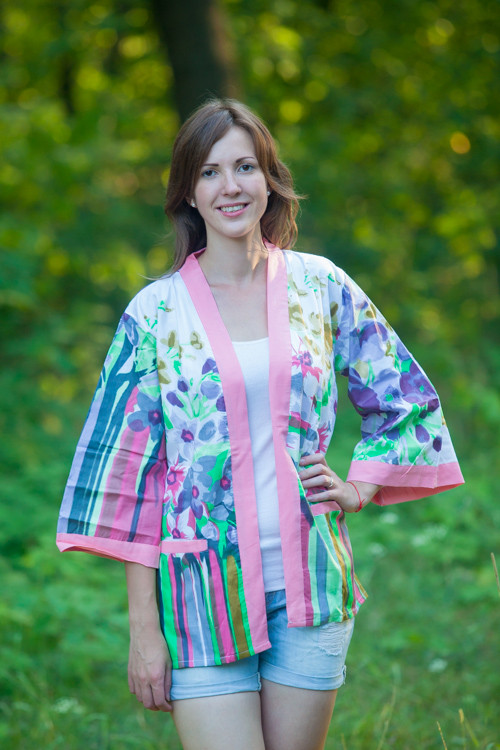 """""""Street Style"""" Kimono jacket in Floral Watercolor Painting pattern"""