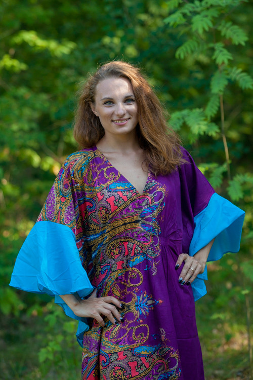 """Ballerina"" kaftan in Cheerful Paisleys pattern"