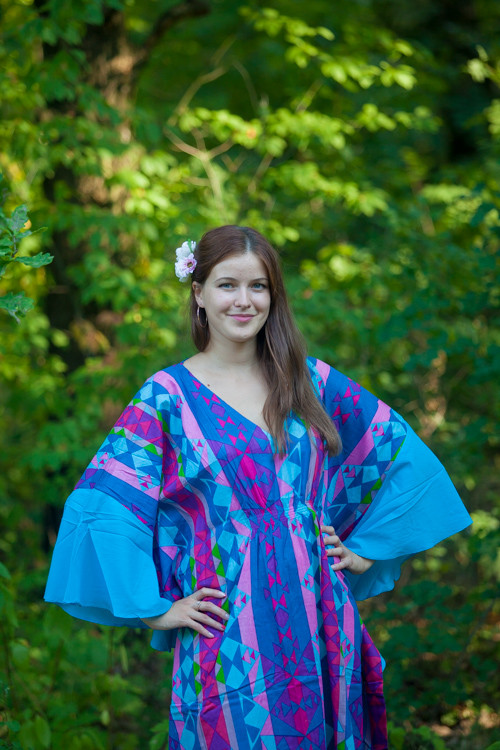 """Ballerina"" kaftan in Diamond Aztec pattern"