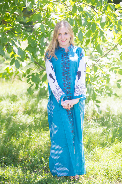 """Charming Collars"" kaftan in Perfectly Paisley pattern"