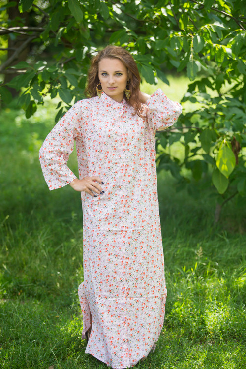 """Charming Collars"" kaftan in Starry Florals pattern"