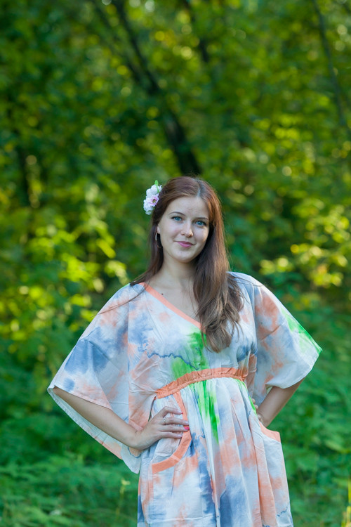 """Breezy Bohemian"" kaftan in Batik Watercolor pattern"
