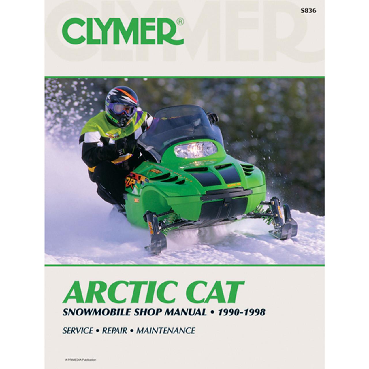 clymer s836 service shop repair manual arctic cat snowmobile 90 98 rh speedaddicts com Seriel Numer Location Arctic Cat Arctic Cat ATV Repair Manuals