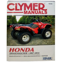 Clymer M202 Service Shop Repair Manual for Honda TRX420 2007-2012