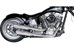 Supertrapp FatShots 2:2 Full Chrome Exhaust System HD FXST / FLST 330 Wide RSD