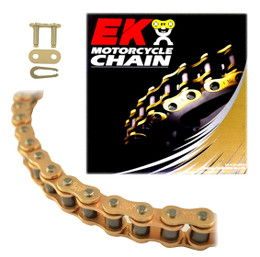 EK 428SHDR Heavy Duty Gold MX Race Motorcycle Chain (Clip Master)
