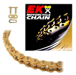 EK 420SH Heavy Duty Gold MX Race Motorcycle Chain (Clip Master)