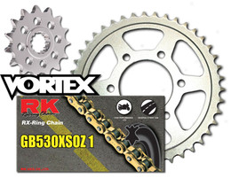 RK Vortex Gld O-Ring Stl OE Chain and Sprocket Kit for SUZ GSX-R1100 93-94