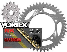 RK Vortex Gld O-Ring Alu QA Chain and Sprocket Kit YAM FZS1000 01-05 / FZ1 01-05