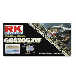 RK GB520GXW Ultra High Performance Sport Road Race XW-Ring Gold Motorcycle Chain