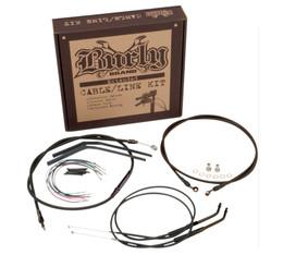 "Burly Control Cable Kit Black 15"" Bars (B30-1116)"