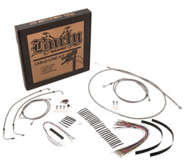 "Burly Control Cable Kit Stainless 14"" Bars (B30-1127)"