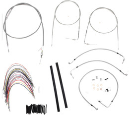 "Burly Control Cable Kit Stainless 18"" Bars (B30-1090)"
