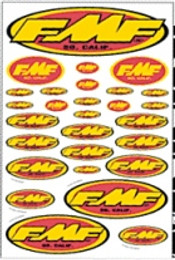FMF EXHAUST ASSORTED STICKER SHEET (014800)