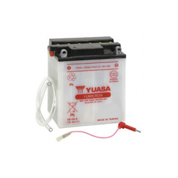 Yuasa YB12A-A Battery with Terminal Adapter
