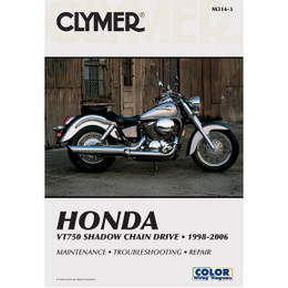 Clymer M314-3 Service Shop Repair Manual VT750 Shadow Chain Drive 1998-2006