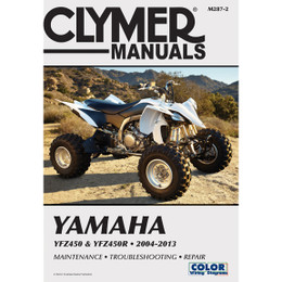 Clymer M287-2 Service Shop Repair Manual Yamaha YFZ450 / YFZ450R 2004-2013