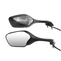 EMGO OEM Replacement Mirror for 08-09 Honda CBR1000RR Left Side Black (20-35262)