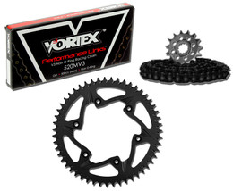 Vortex CK2217 Chain and Sprocket Kit MXA HON CR250R 96-01,04,450R 02-03 (1U,ST)