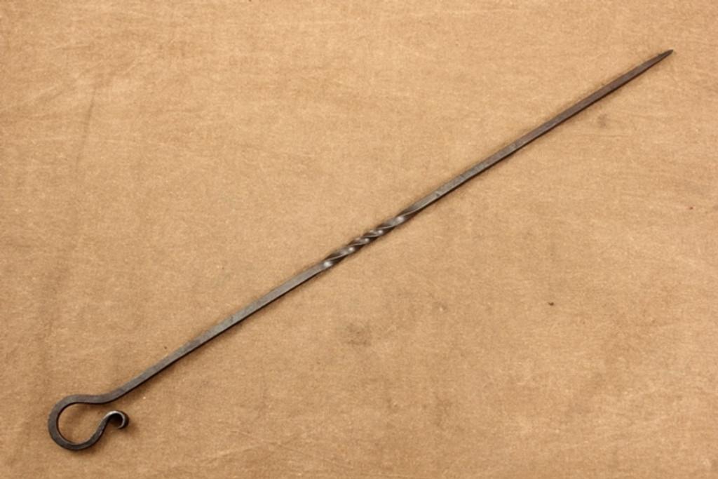 wrought iron shish kabob skewer