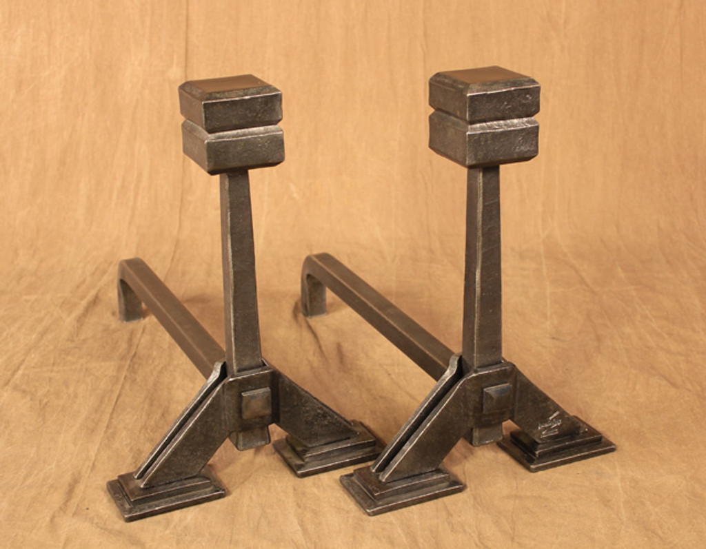 Cube top Andirons