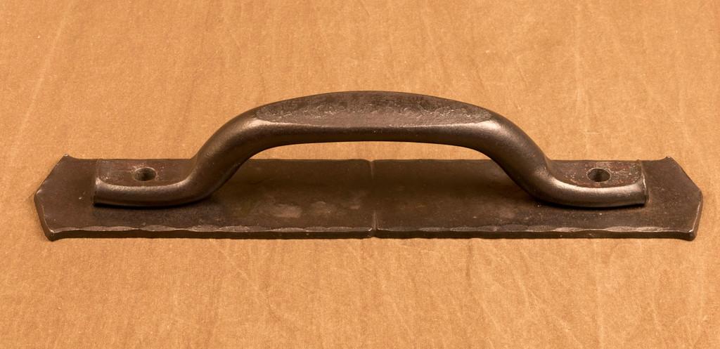 Barndoor handle, large Villa handle with backplate