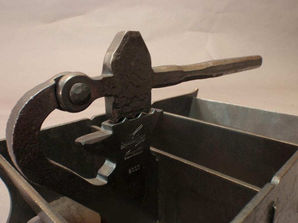 wrought iron nutcracker box - detail
