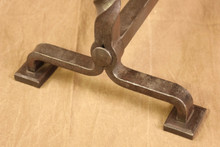 wrought iron twisted juniper andirons - base