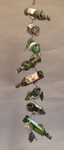 wrought iron wine chain leaf link - as part of wine chain spiral