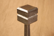 Large Cube Top Andirons top