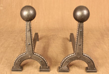 Round Top Andirons