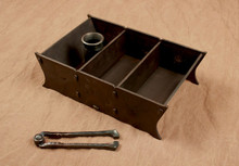 Hand Forged nut box with its own forged nut cracker